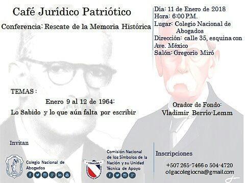 Café jurídico Patríotico –  Conferencia: Rescate de la memoria histórica.