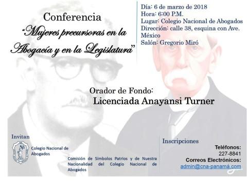 """Hoy sera la conferencia """"Mujeres precursoras en la abogacía y en la legislatura"""""""