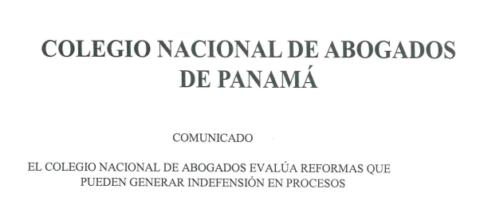 El CNA evalúa reformas que pueden generar indefensión en procesos