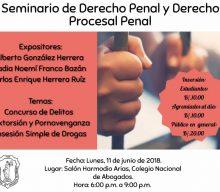 Seminario de derecho laboral y derecho procesal penal