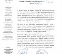 El colegio de abogados de Panama reitera su oposición a cualquier tipo de regularización migratoria
