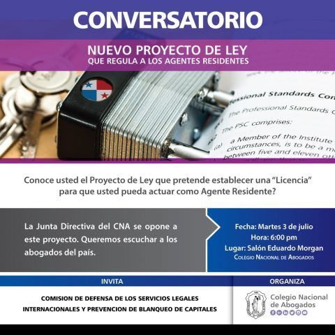 Conversatorio: Nuevo Proyecto de ley que regula los agentes residentes