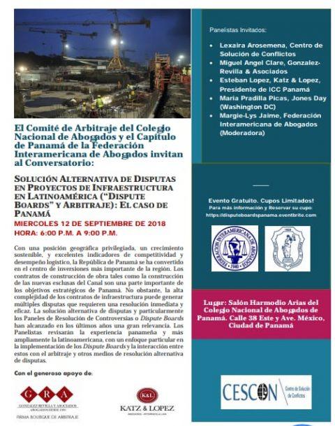 Conversatorio: Solución Alternativa de Disputas en Proyectos de Infraestructura en Latinoamérica
