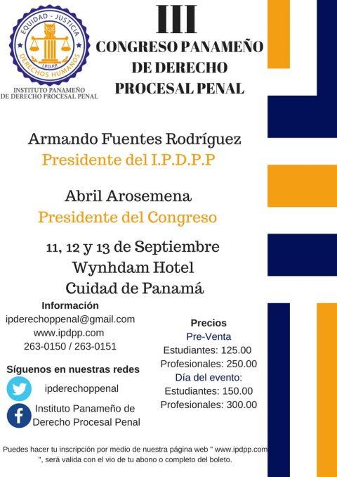 Congreso Panameño de Derecho Procesal Penal