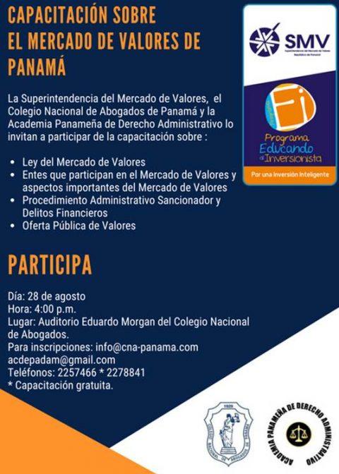 Capacitación sobre el Mercado de Valores de Panamá.