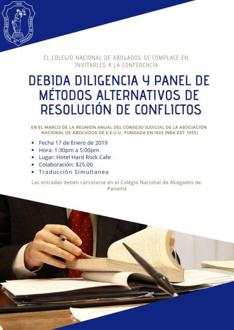 Conferencia de Debida Diligencia y Panel de Métodos Alternativos de Resolución de Conflictos