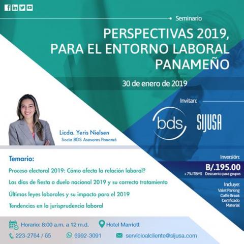 Perspectivas 2019, Para El Entorno Laboral Panameño