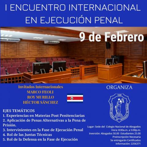 I Encuentro Internacional en Ejecución Penal