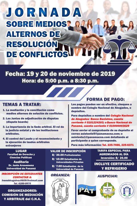 INVITACIÓN- Jornada sobre medios alternos de resolución de conflictos