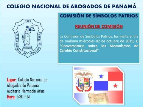 Convocatoria- Reunión de la comisión de símbolos patrios