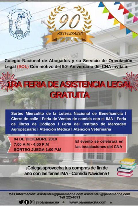 INVITACIÓN- 1ra Feria de Asistencia Legal Gratuita