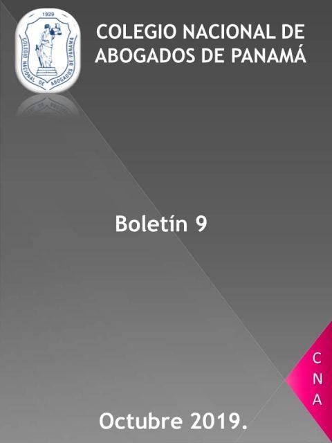 Boletín Informativo # 9 del 8 al 14 de octubre de 2019
