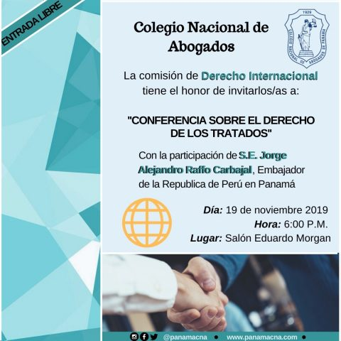 INVITACIÓN- Conferencia sobre el Derecho de los Tratados