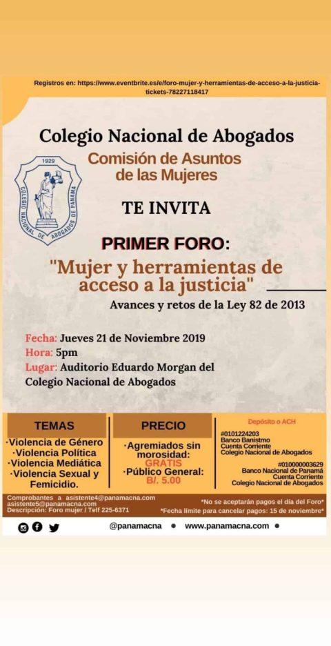 INVITACIÓN- Primer Foro Mujeres y  Herramientas de Acceso a la Justicia