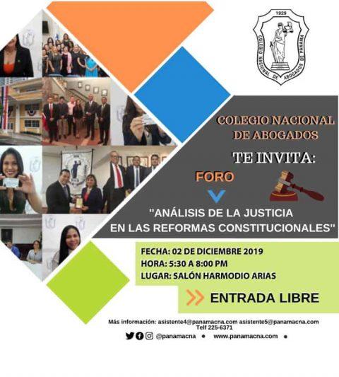 INVITACIÓN- Foro Análisis de la Justicia en las Reformas Constitucionales