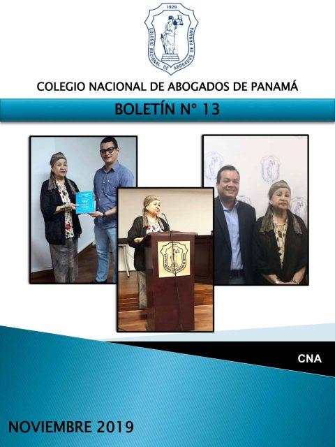 Boletín Informativo # 13 – Noviembre 2019