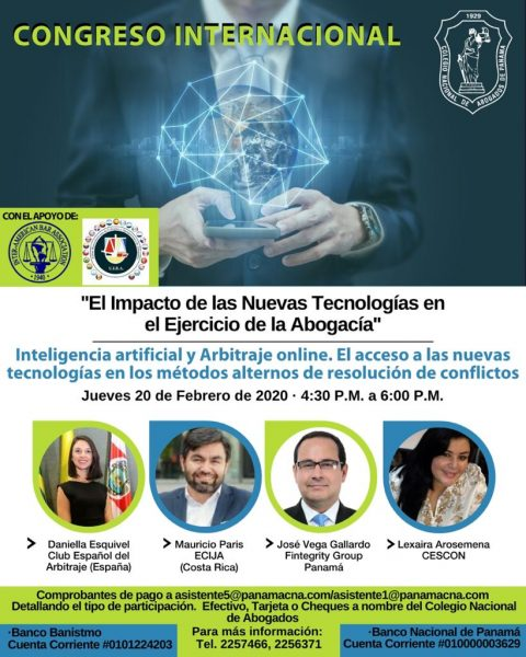 CONGRESO INTERNACIONAL: Inteligencia Artificial y Arbitraje Online.
