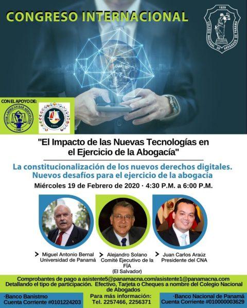 CONGRESO INTERNACIONAL: La constitucionalización de los nuevos derechos digitales.