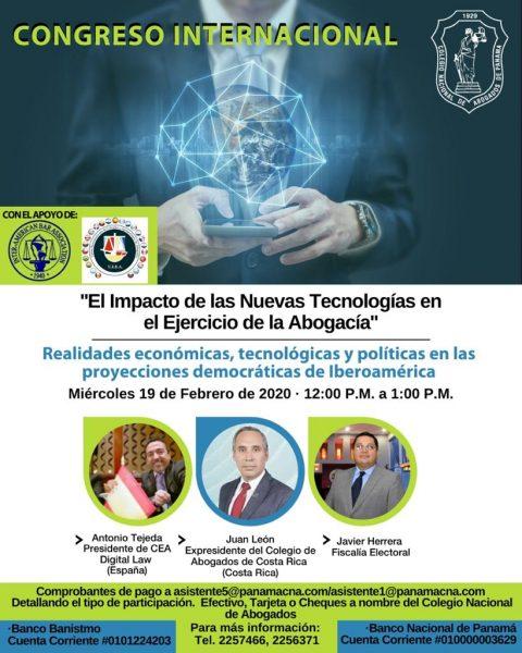 CONGRESO INTERNACIONAL: Realidades económicas, tecnológicas y políticas en las proyecciones democráticas de Iberoamérica.