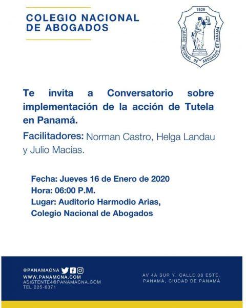 CONVERSATORIO: Implementación de la Acción de Tutela en Panamá