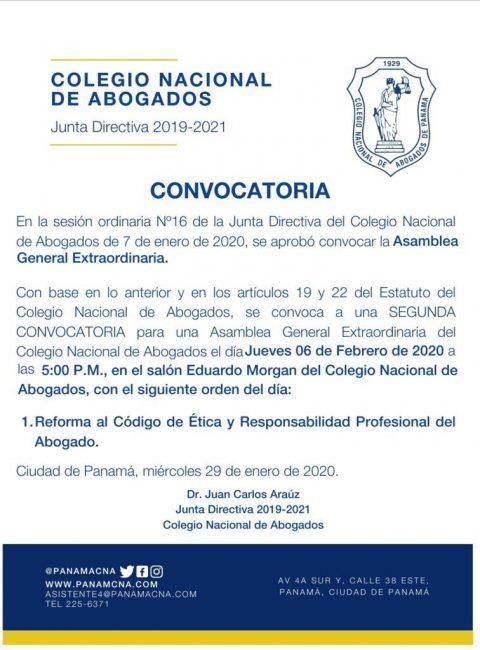 CONVOCATORIA: ASAMBLEA GENERAL EXTRAORDINARIA
