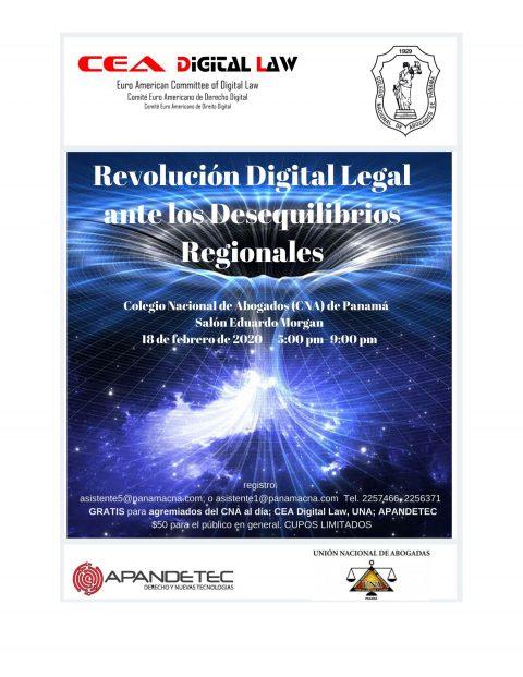 INVITACIÓN: Revolución Digital Legal ante los Desequilibrios Regionales