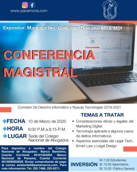INVITACIÓN: CONFERENCIA MAGISTRAL