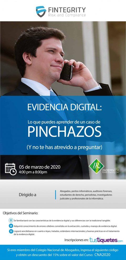 """INVITACIÓN: EVIDENCIA DIGITAL """"LO QUE PUEDES APRENDER DE UN CASO DE PINCHAZOS"""""""