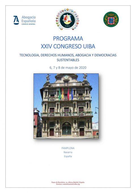 PROGRAMA XXIV CONGRESO UIBA – PAMPLONA