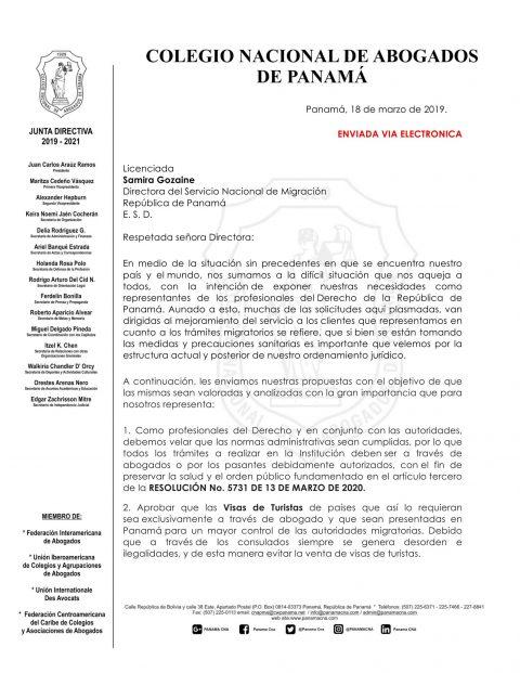 RECOMENDACIONES SERVICIO NACIONAL DE MIGRACIÓN
