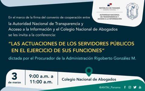 INVITACIÓN: LAS ACTUACIONES DE LOS SERVIDORES PÚBLICOS EN EL EJERCICIO DE SUS FUNCIONES.