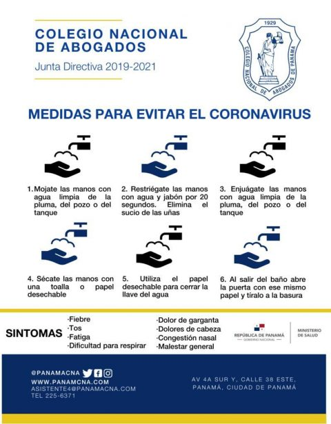 MEDIDAS PARA EVITAR EL CORONAVIRUS