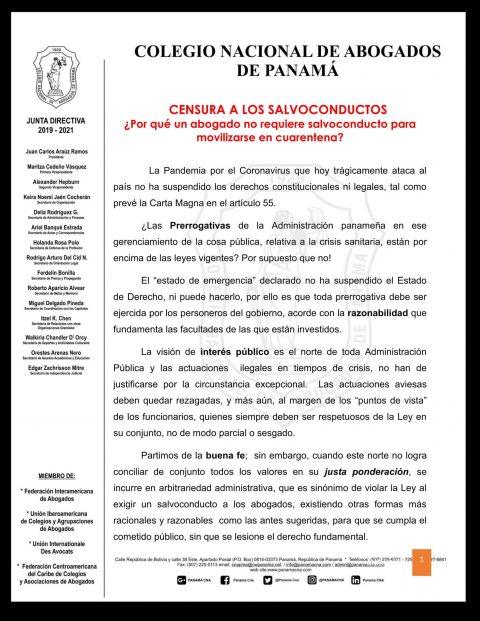 CENSURA A LOS SALVOCONDUCTOS ¿Por qué un abogado no requiere salvoconducto para movilizarse en cuarentena?