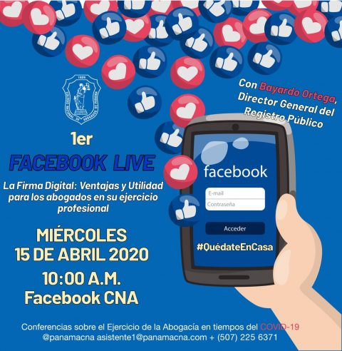 1er FACEBOOK LIVE: LA FIRMA DIGITAL