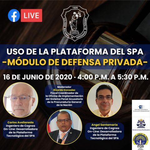 USO DE LA PLATAFORMA DEL SPA: MODULO DE DEFENSA PRIVADA
