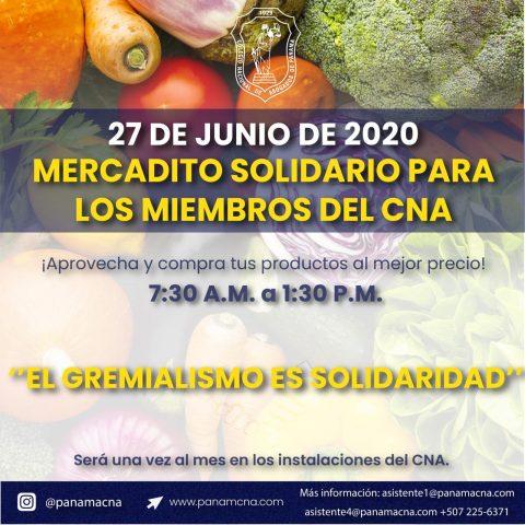 MERCADITO SOLIDARIO PARA LOS MIEMBROS DEL CNA