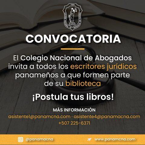 CONVOCATORIA: ¡POSTULA TUS LIBROS!