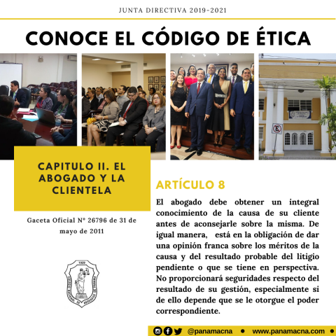 CONOCE EL CÓDIGO DE ÉTICA – ARTÍCULO 8