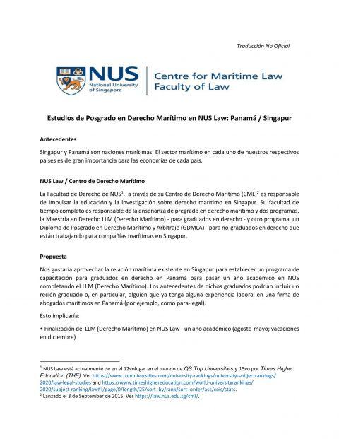Becas para Estudios de Postgrado en Derecho Marítimo