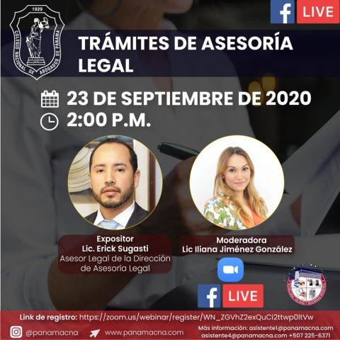 TRÁMITES DE ASESORÍA LEGAL