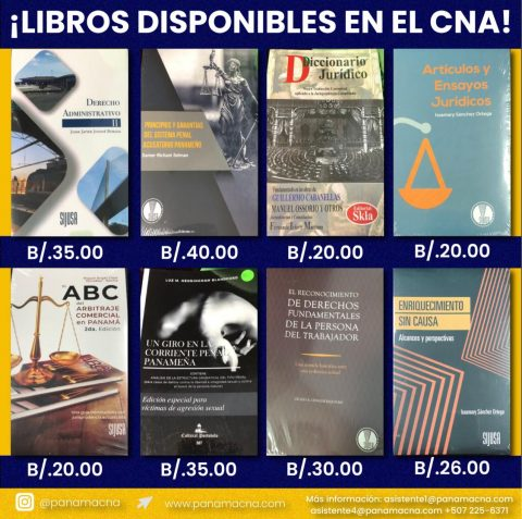 LIBROS DISPONIBLES EN EL CNA