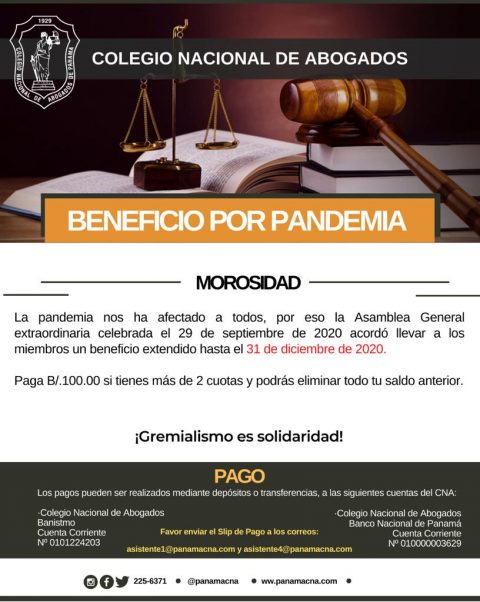 BENEFICIOS POR PANDEMIA