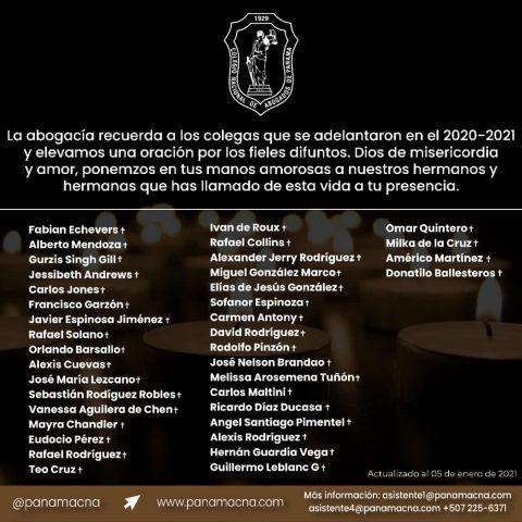 La Abogacía Recuerda a los Colegas que se adelantaron en el 2020-2021